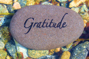 With all that is going on in the world at large and our personal world it is sometimes hard to be grateful. When it seems as if everything is going awry, as if we are in a whirlwind of negativity, practicing gratitude is the one sure way to find balance.